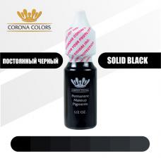 Пигмент Постоянный Черный (Solid Black) 15 мл